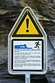 «You are warned not to go on the river bed. The water level can suddenly rise at any time due to automatic operation of hydroelectric installations; also during sunny weather conditions!» (6220326225).jpg