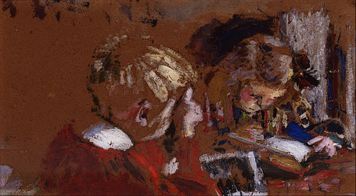 Édouard Vuillard - Children Reading - Google Art Project