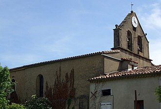 Aigues-Vives, Ariège - Image: Église d'Aigues Vives, Ariège edit