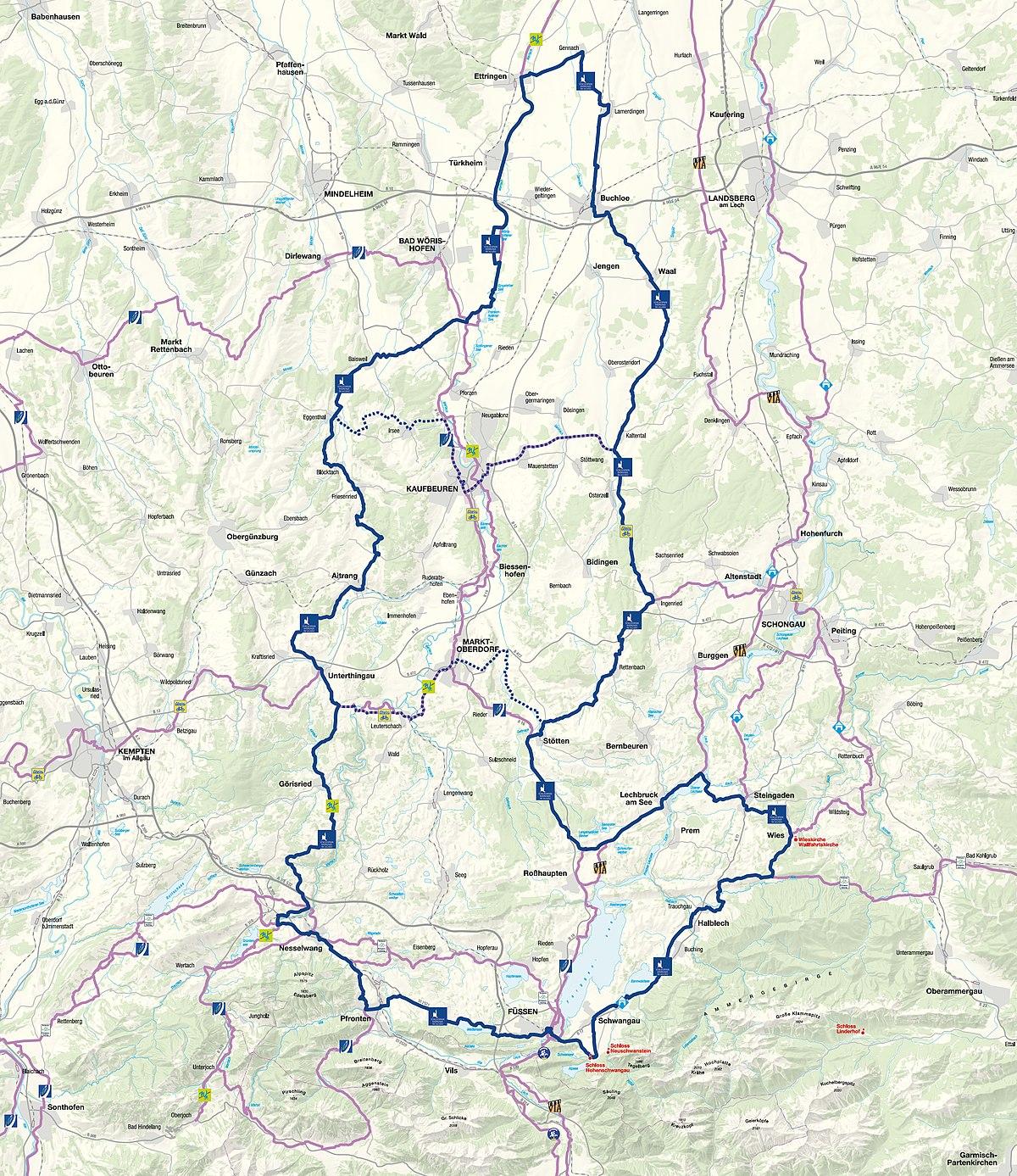 Übersichtskarte der Schlossparkradrunde im Allgäu.jpg