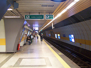 Public transport in Istanbul - Osmanbey station of the Istanbul Metro