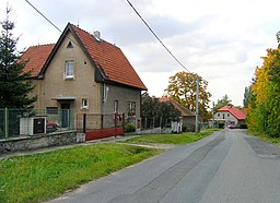 Škvorec, Road from Hradešín.jpg