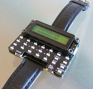 Calculator watch - The µWatch, an open source DIY scientific calculator watch