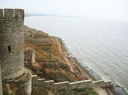 Аккерманська фортеця. Вигляд на лиман.jpg