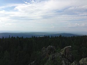 Visim Nature Reserve - White Mountain, overlooking buffer zone in the north of the Visimskiy Biosphere