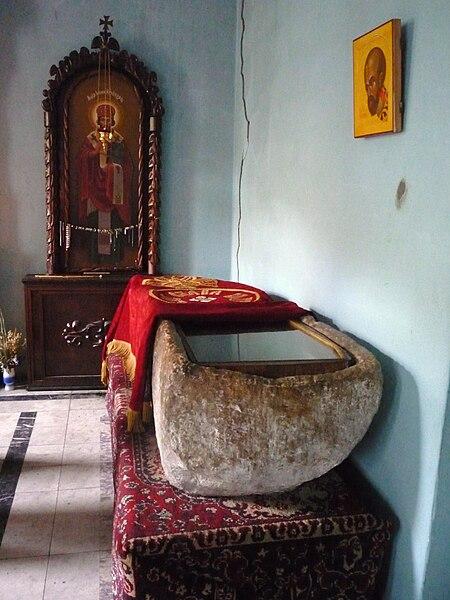 Место погребения свт. Иоанна Златоуста в Команах