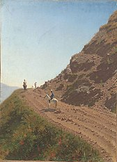 Nomadic road in the Alatau Mountains