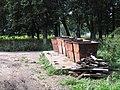 Невская Дубровка август 2011 года. Пункт сбора мусора на территории Парка имени 330-го стрелкового полка - panoramio.jpg