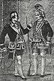 Рисунок к статье «Лейб-кампания». Офицер и сержант лейб-компании (1742—1762 гг.). ВЭС (СПб, 1911-1915).jpg