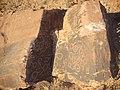 نقوش هندسی به شکل دایره در نقوش صخره ای ولایت ارغیان عکس از احمد نیک گفتار 1392.JPG