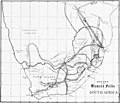 """""""Routes to the Diamond Fields South Africa"""" 1872 map - The South African diamond fields (IA The South African Diamond Fields) (page 6 crop).jpg"""
