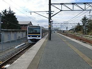 Tōgane Line - 209 series EMU at Ōami Station