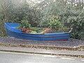 -2019-10-28 Fishing boat flower planter, Cromer Road, Mundesley.JPG