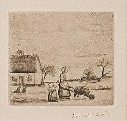 The woman with the wheelbarrow