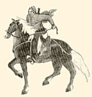 Cao Futian - Depiction of Cao Futian on horseback