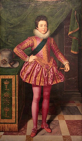 Louis XIII of France - Louis XIII by Frans Pourbus the Younger (1611) (Palazzo Pitti)