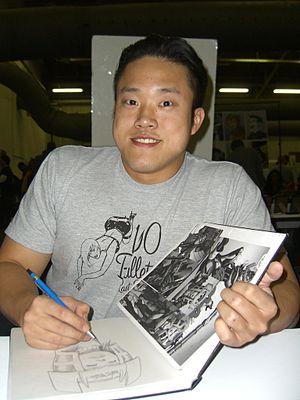 Michael Choi (comics) - Choi sketching Big Barda at the Big Apple Convention in Manhattan, October 17, 2009.
