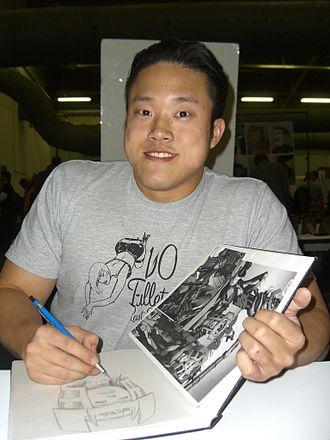 Michael Choi (comics) - Choi sketching Big Barda at the Big Apple Convention in Manhattan, October 17, 2009.