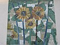 1120 Sagedergasse Rothenburgstraße Stg 5 - Mosaiksupraporte Sonnenblume von Jakob Laub 1954 IMG 7154.jpg