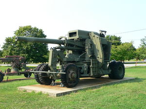 120 mm M1 gun - A 120 mm M1 anti-aircraft gun at US Army Ordnance Museum.