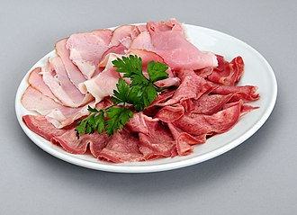 Lunch meat - A platter of coldcuts