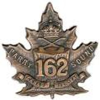 162nd (Parry Sound) Battalion, CEF - The pin given to the 162nd Battalion.