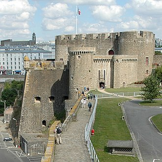 Château de Brest - The keep of the château de Brest, seen from the tour de Brest