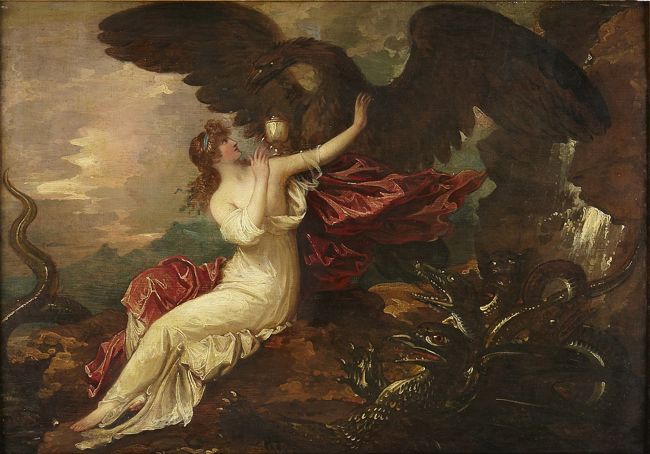 1802, West, Benjamin, Eagle Bringing cup to Psyche.jpg