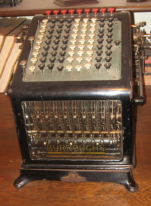 Burroughs Corporation - Desktop model in use around 1910