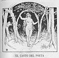 1891-1892, Almanaque Sud-americano, El canto del poeta, Apeles Mestres.jpg