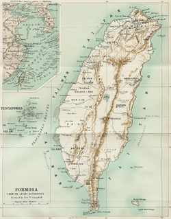 Location of Taiwan under Japanese rule