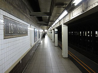 18th Street (IRT Broadway–Seventh Avenue Line) - Image: 18th Street IRT 001