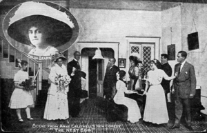 """Anne Caldwell - Scene from Caldwell's """"The Nest Egg"""" with Zelda Sears at the Park Theatre, Boston, ca.1911"""