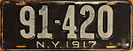 1917 New York license plate.JPG