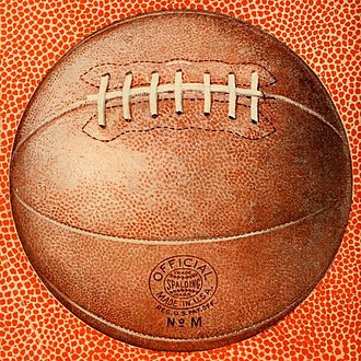 History of basketball - A Spalding basketball from 1922