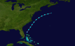 1924 Atlantic tropical storm 2 track.png