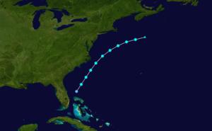 1924 Atlantic hurricane season - Image: 1924 Atlantic tropical storm 2 track