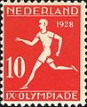 1928 Summer Olympics stamp of the Netherlands athletics2.jpg