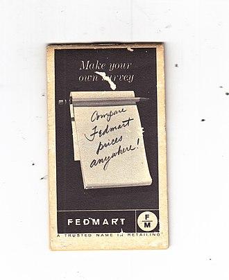 FedMart - FedMart notepad, 1964
