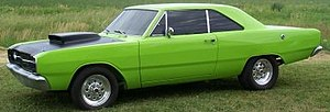 1969 Dodge Dart Swinger (front and rear sidema...