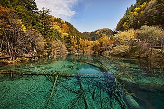 Min Mountains - Landscape in the Jiuzhaigou Valley