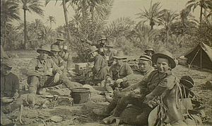 1st Australian Wireless Signal Squadron - 'F' Station, 1st Wireless Signal Squadron in Baghdad, 1917.