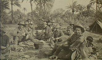 1st Australian Wireless Signal Squadron - 'F' Station, 1st Wireless Signal Squadron in Baghdad, 1917.