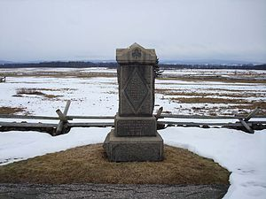 1st Delaware Infantry Regiment - 1st Delaware Infantry Monument, Hancock Avenue, Gettysburg Battlefield