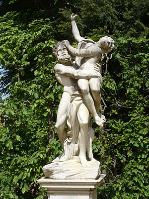 Rape of Persephone - A statue depicting the kidnapping of Persephone by Hades.