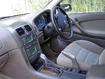 Beige automobile interior