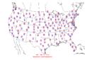 2006-07-14 Max-min Temperature Map NOAA.png
