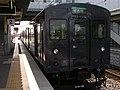2007-08-26 JR- Yakujin Station,Kakogawa Line JNR103系改造車両 横尾忠則「走れ!Y字路」 8260235.JPG