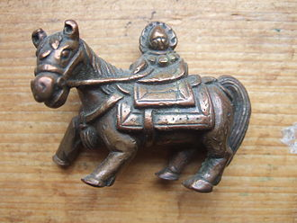 Wind Horse - Tibetan bronze statue of a windhorse, probably 19th century