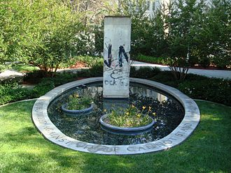 Chapman University - A section of the Berlin Wall is featured in Liberty Plaza.